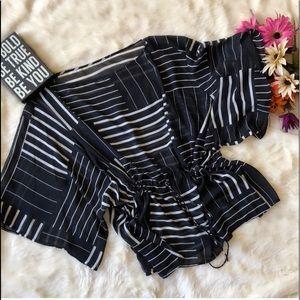 Tops - Kimono Style Top - Tie at Waist